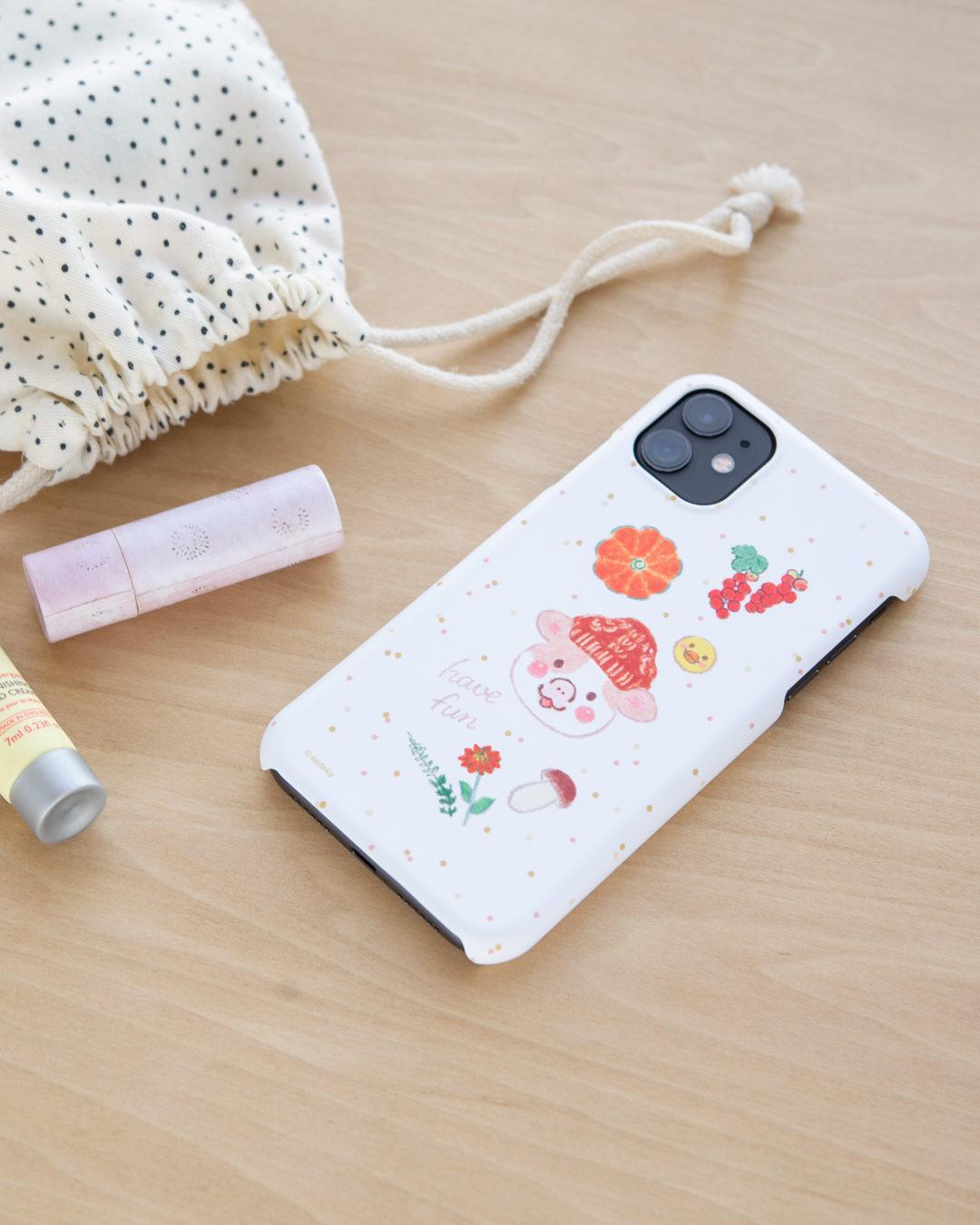 ほんわか日和 iPhoneケース 冬のおさんぽ【ウフ】 ほんわかストア