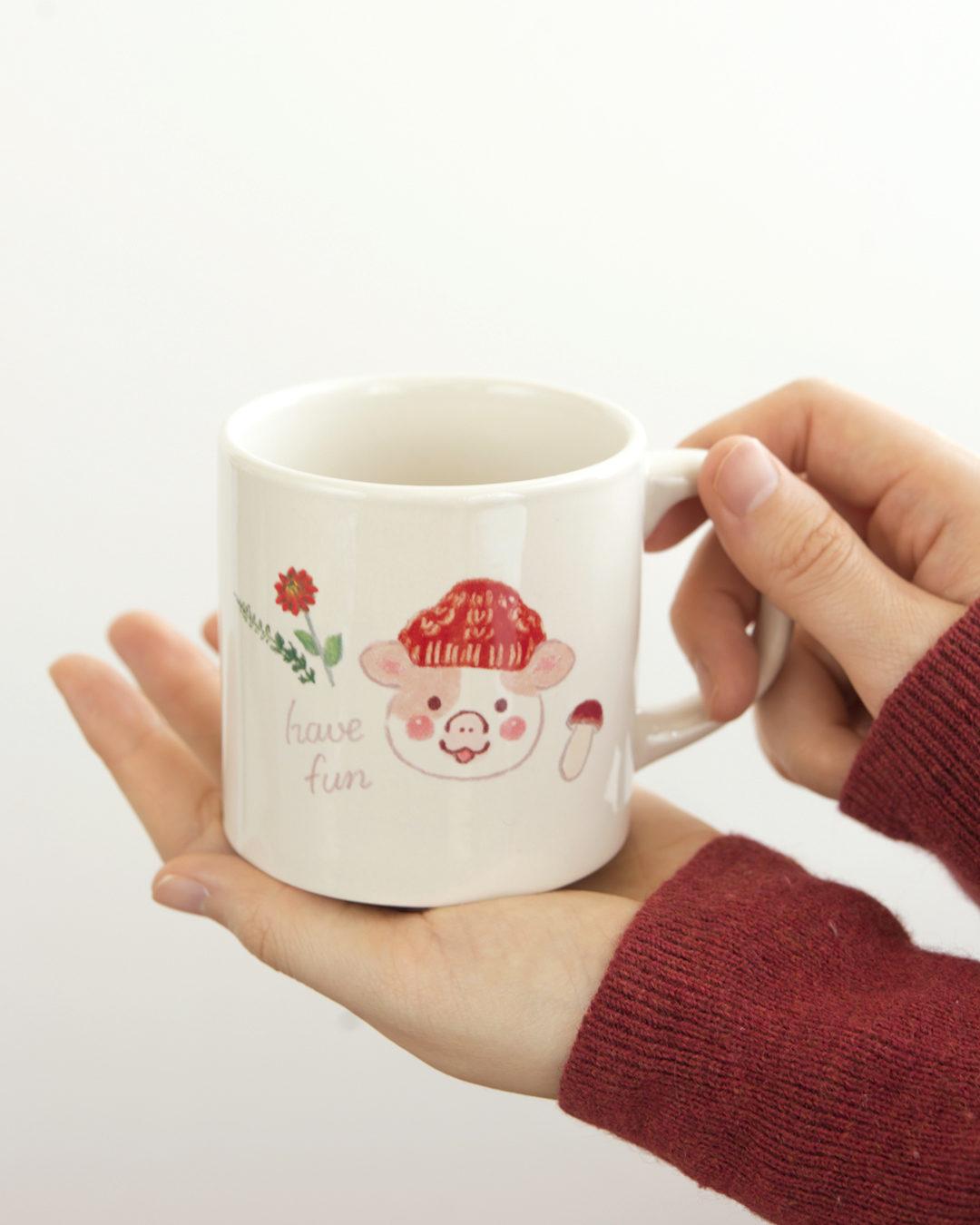 ほんわか日和 マグカップ 冬のおさんぽ【ウフ】 ほんわかストア